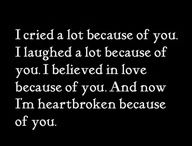 Feelings / You know it's real when you are hurt so much you nearly bled to death.