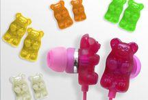 Gummy Bear earphones / by Alivia Gomez