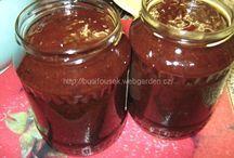 Marmelády, sirupy
