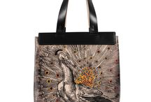 Universal Bag - The Emperor / Women Leather Handbags, Limited Edition Designer Leather Bag COLOURS OF MY LIFE - Limited Edition wearable art signed by Anca Stefanescu.