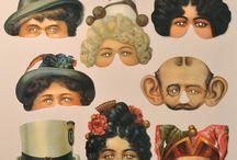 Victorian card masks