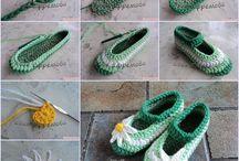 zoknik papucsok / horgolt és kötött