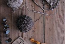 flatlay вязание