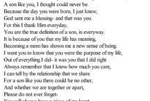 poem for sons
