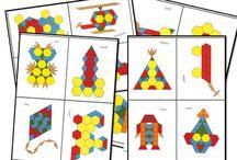 Mozaiek blokjes/ pattern blocks