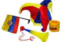 Productos con el tricolor / Siente la pasión. / Productos alusivos al tricolor colombiano, vive los colores amarillo -azul y rojo, identidad de país.