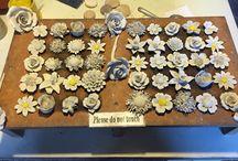 Bone China Flowers / Made at Coalport China Museum.