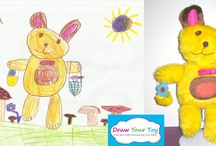 Plush toys from kid's drawing!