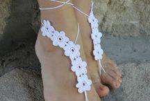 Sandálias Descalças Crochet