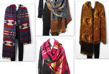 100% Wool & Velvet Shawl Wrap