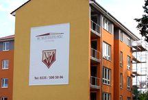 Fassadenbanner / Werbebanner auf Fassaden