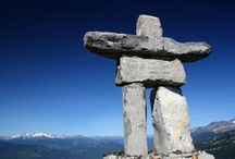 Finding Balance / The Inukshuk inspires us in that it mirrors our spirit of friendship and community. Each individual rock must coexist with the others and is thus built by the principles of balance, patience, and trust.