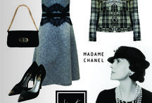 """Madame Chanel / Como dizia Gabrielle """"Coco"""" Chanel: """"Uma mulher deve ser duas coisas: elegante e fabulosa"""". """"Coco"""" revolucionou a década de 20, libertando a mulher dos trajes desconfortáveis e rígidos do final do século 19. O estilo Chanel nunca sai de moda e a Alberta Atelier traz lindas peças para compor o look da mulher independente, bem-sucedida, cheia de personalidade e de estilo."""
