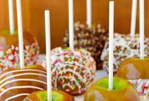 Maçãs carameladas