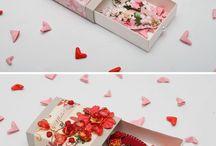 Валентинки ,коробочки.