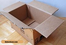 Karton Kutudan Çamaşır Sepeti Yapımı / Karton Kutudan Çamaşır Sepeti Yapımı  http://www.dekordiyon.com/karton-kutudan-camasir-sepeti-yapimi/  #KartonKutuÇamaşırSepeti