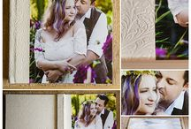 The Prettiest Wedding Albums Ever! / Here is a collection of the wedding albums I've created for past clients and for myself.  Featuring Finao wedding albums created from all kinds of fun leathers, fabrics, metal, canvas and more!