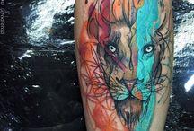 tattoos με λιοντάρια