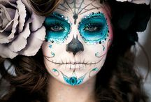 halloween en suger skulls make-up
