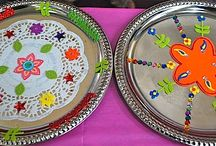 Diwali plate decorating