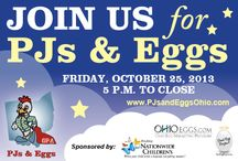 PJs and Eggs / For one night only, on Friday, Oct. 25, 11 Columbus, Ohio, restaurants that usually are open for breakfast and lunch only will re-open their doors to serve diners' favorite breakfast menu items for dinner, to benefit Nationwide Children's Hospital.  Please help us once more by attending this fun, family event. In 2012, the event raised more than $1,200 for Nationwide Children's Hospital and collected more than 800 pairs of new pajamas!