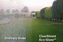 The ClearShield Eco-System™ / The new and proven ClearShield Eco-System™ transforms new or old glass into a higher value product with low-maintenance performance, resulting in diversification and differentiation for businesses.