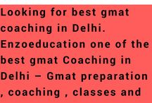 Know More About Gmat / Enzoeducation one of the best gmat Coaching in Delhi – Gmat preparation , coaching , classes and training institute in Delhi for gmat exam. GMAT is one of the most popular competitive exams. GMAT exam, typically, requires long and hard training. Enzoeducation is one of the best institute in Delhi for preparation in gmat exam. http://www.enzoeducation.com/gmat.html