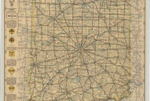 Historical Indiana Maps / The Indiana State Library has digitized several historical state and county maps and made them accessible via Indiana Memory.  This collection includes a 1936 State Highway Commission survey maps for most Indiana counties.  These show detailed information about roads gleaned from the surveys.