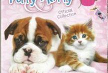 Puppy e Kitty / Album di figurine Puppy e Kitty  di Image Edizioni. Le bellissime foto sono di Keith Kimberlin il celebre fotografo americano di cuccioli di cane e gatto. ** Stickers Collection Puppy and Kitty
