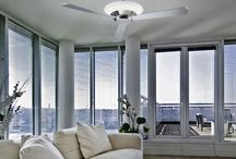 Ceiling Fans + lights / Keeping you cool in the summer and warm in the winter with low noise running and central lighting these ceiling fans are an ideal addition to your home. Visit our website to view the complete range.  http://aomlighting.co.uk/Indoor-lighting/Ceiling-Fans