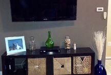 Cabinet wth rattan drawer