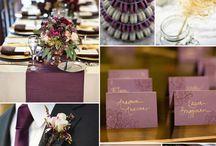 eggplant & gold wedding inspiration
