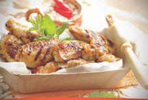 Receta de Alitas de pollo con glaseado de albaricoque