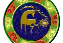 Mandalák / A mandala szanszkrit szó. Misztikus, vagy spirituális kört jelent, szakrális jelkép.