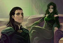 Hela + Loki