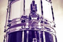 Snare drums for my drum sets: Tama, Pearl, Ludwig, custom