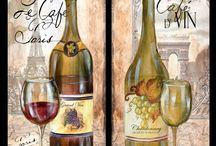 Malarstwo - wino i winogrono