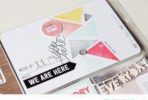 Scrapbook: Ink Stamp Emboss etc