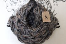 Pluma Handmade - arm knitted scarves / 100% unique and handmade jewelry and other items for a down-to-earth look and that mindful connection to the energies that surround us. http://www.etsy.com/shop.Plumahandmade