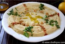 preparing hummus