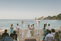 Cabo Villas Beach Resort Teal and coral / Wedding planner Luba Ponce ( wedding assistant  Illeana Reyes  credits to Romantic Cabo Weddings