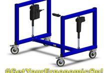 Industrial Bases - LTW Ergonomic Solutions / LTW's Electric Adjustable Height Ergonomic Bases Combine Ergonomics with Economics! Get your ergonomic on! #GetYourErgonomicOn