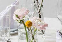 Blomster og bordpynt til bryllup