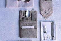 Tisch schön servieren