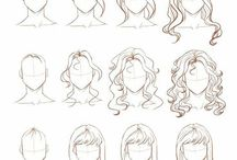 draw hair tutorial