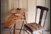 ironing boards repurposed