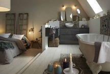 idées salles de bain chambre