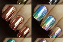 Esmalte de uñas metálico