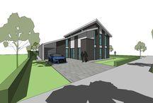 Eigentijdse woning / Een verfrissend ontwerp met alle wensen van de opdrachtgever verwerkt in een leuk en speels ontwerp.