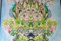 Adult coloring - inspiration